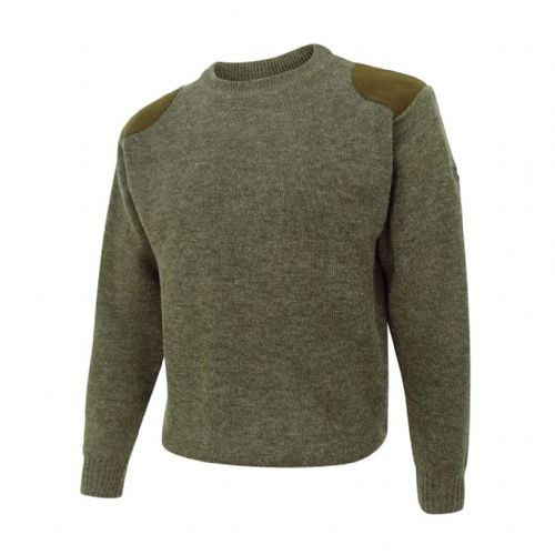 Hoggs of Fife Melrose Hunting Pullover: Marled Green